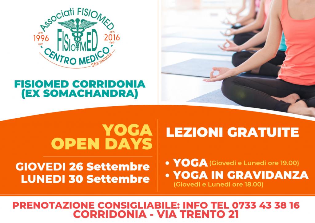 yoga open days fisiomed corridonia